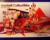 Vintage 1989 Baseball Collectibles with Price Guide Book, Beautifully Illustrated, Gift For Him, Gift for Collectors, Christmas
