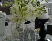 WEDDING TABLE NUMBERS, Black Tie ,Bridal Shower, Sweet 16