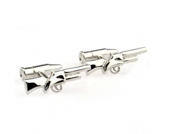 Gun Cufflinks - Groomsmen Gift - Men's Jewelry - Gift Box Included