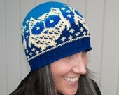 Crochet Pattern-- All Ages Owls Up All Night Beanie --Crochet Pattern