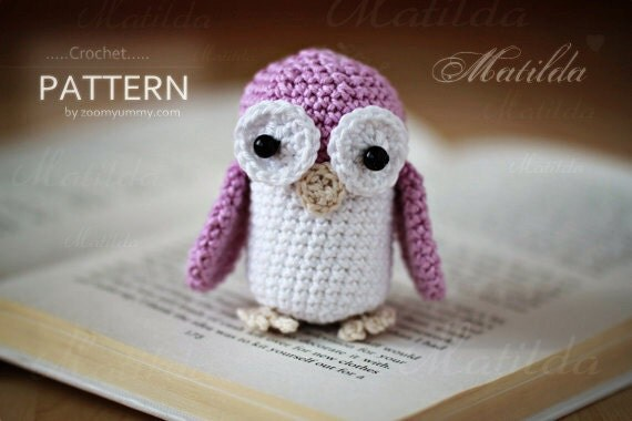 Crochet Pattern - Matilda The Owl (Pattern No. 046) - INSTANT DIGITAL DOWNLOAD