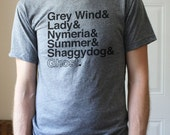 Game of Thrones // The Direwolves of Winterfell // Unisex Tri-Blend Tee Shirt (Gray)