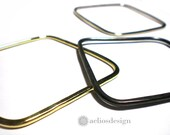 Gold Silver and Oxidised Square Bangle Set