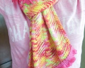Awesome, hot pink, wool scarf with vintage trim (raided from my sister's extensive collection)