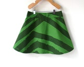 Size 5 Girls Skirt - Marimekko - Green Stripes