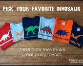 Personalized dinosaur birthday shirt, kids dinosaur shirt, choose your favorite dinosaur, dinosaur birthday shirt