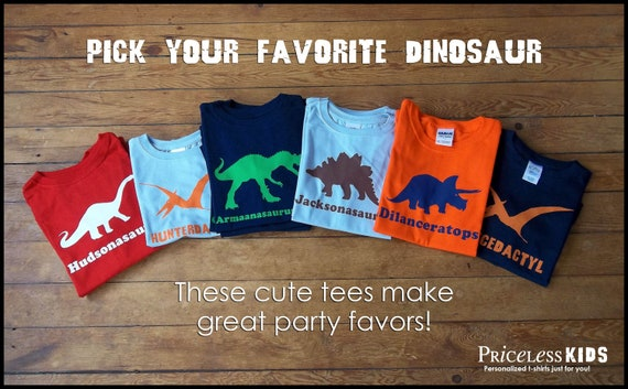 PriceLess Kids - Dinosaur Birthday Shirt