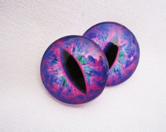 Glass eyes-jewelry pendants- wirewrapping glass-25mm cabochons