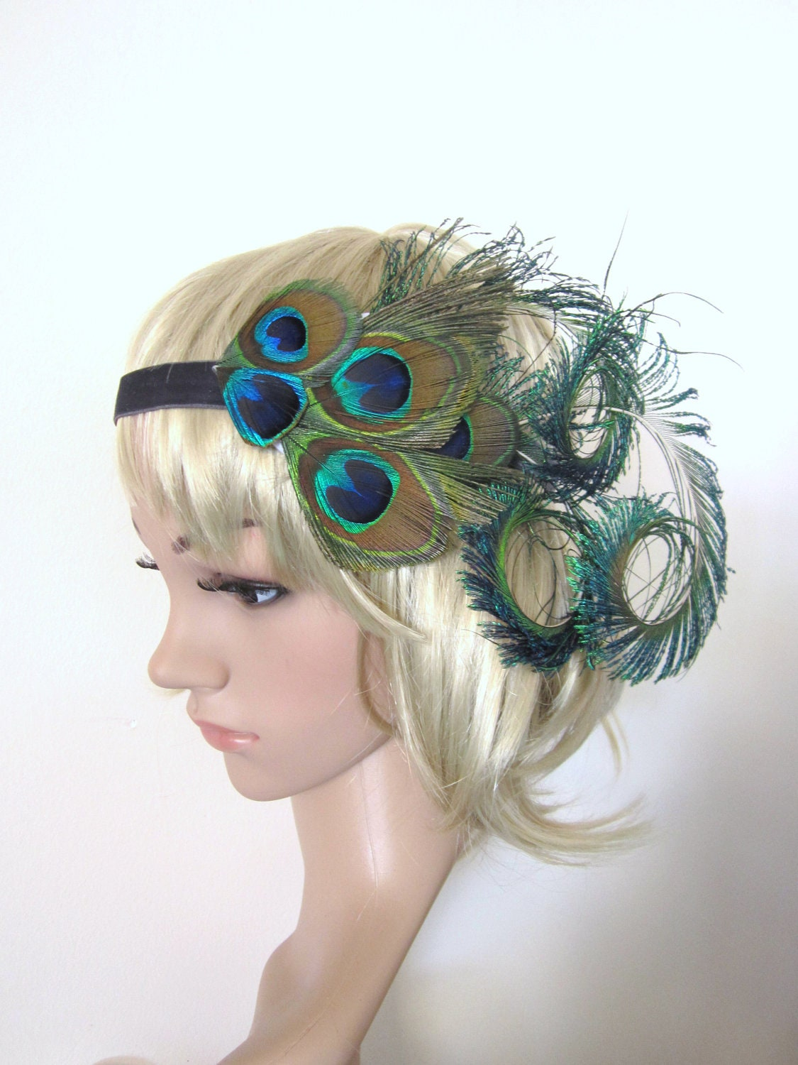Vintage Peacock feather Burlesque 1920s flapper style ...