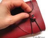 Handmade Leather Journal. Red Leather. Burgundy MEDITATIO