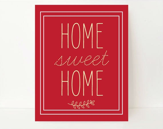 Home Sweet Home Art Modern Wall Art Living Room Wall Art: home sweet home wall decor
