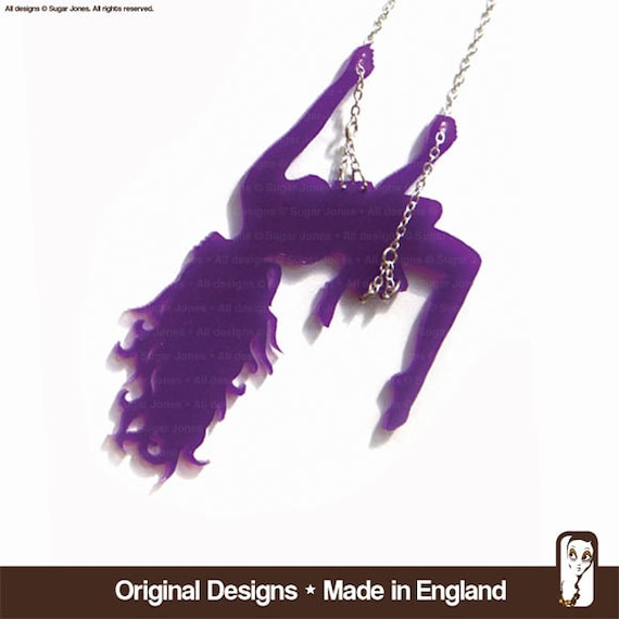 Swing Girl Necklace - Sassy Swinging Lassy   Made in England - Sugar Jones UK