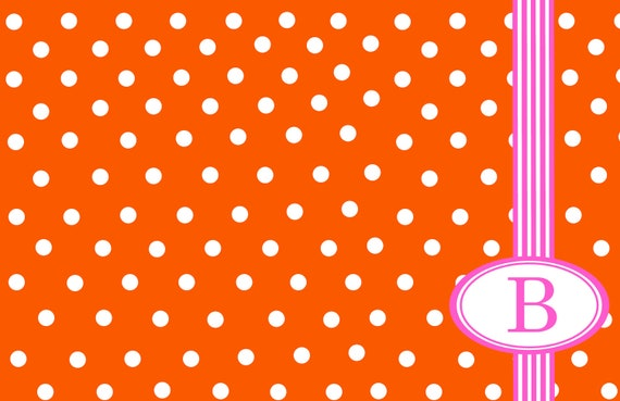 Polka Dot Personalized Placemat