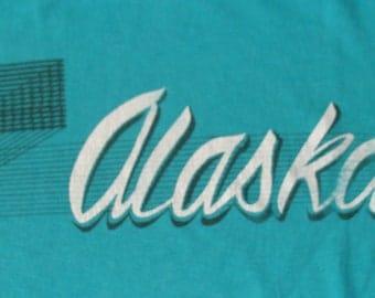 Vintage 80s Alaska Blue T Shirt