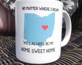 Moving Away Gift, Ohio Mug, Thinking of you gift, Miss you, State mugs, Ohio gifts for her, Gift for Neighbor, Housewarming gift, Coffee mug