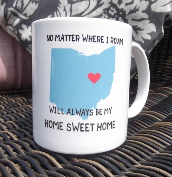 Moving Away Gift, Ohio Mug, Thinking of you gift, Miss you, State mugs, Ohio gifts for her, Gift for Neighbor, Housewarming gift, Coffee mug