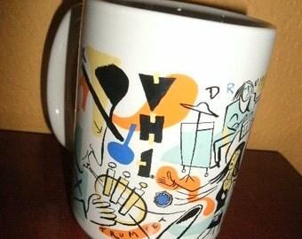 Coffee MUG/MTV/1991/Vintage/Colorful