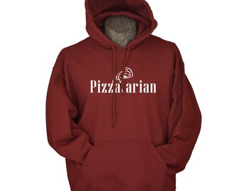 Pizzatarian Pizza Hoodie for Men and Women Birthday presents Hooded Sweatshirt S - 3XL