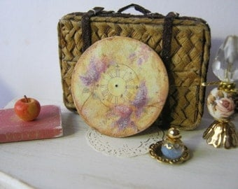 Antiqued Romantic Clock Face for Dollhouse