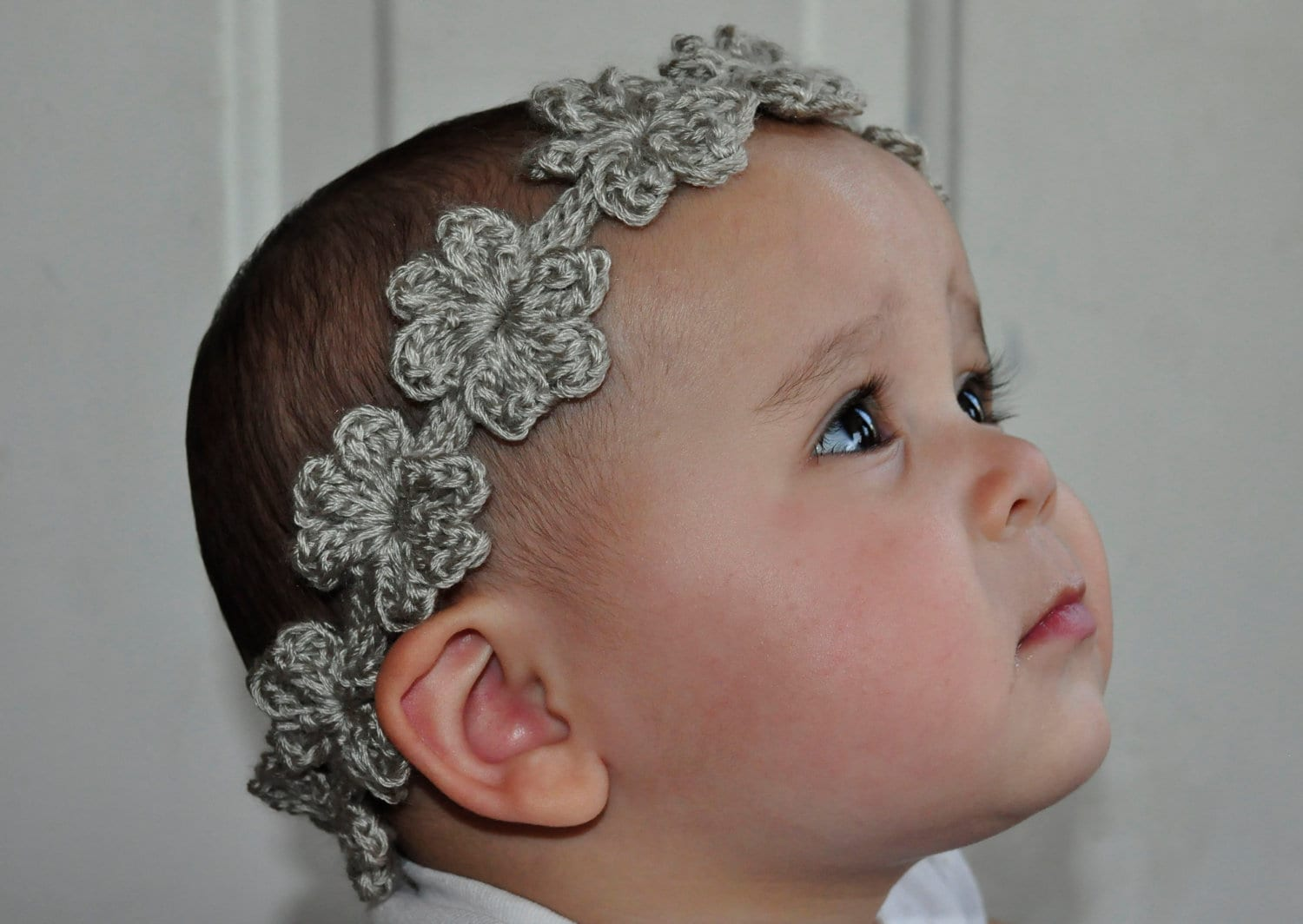 Crochet Wide Headband With Flower Free Pattern : Crochet Pattern PDF Headband / Bracelet Flower Garland