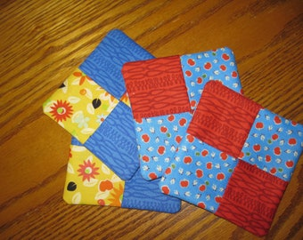 Bright colored coasters