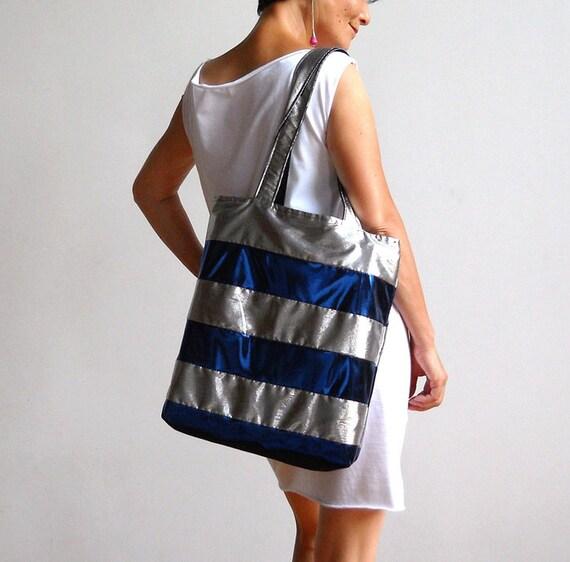 Silver Sailor Tote Bag