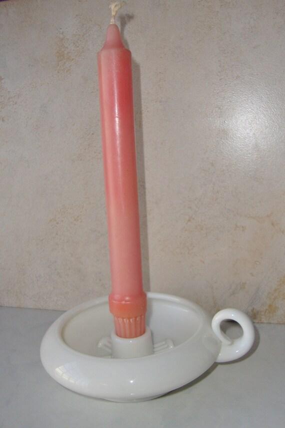 Milk Glass Vintage Candlestick Holder