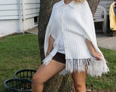 1960s White Poncho- Bamberger's