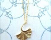 Ginko Leaf Gold Necklace
