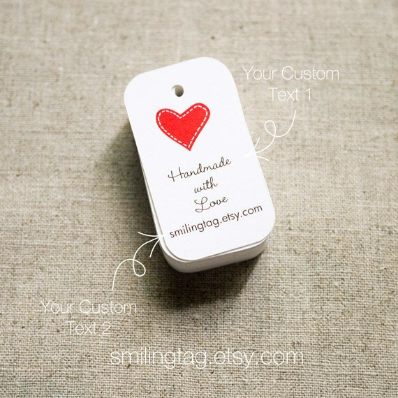 Gift Tags - Custom Wedding Favor Tags - Thank you tags - Heart Wedding ...