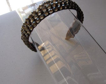 Brown Crystal Stone Applique Headband, for weddings, parties, evening, special occasions