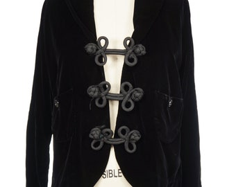 1950s Black Velvet Jacket / 50s Jacket