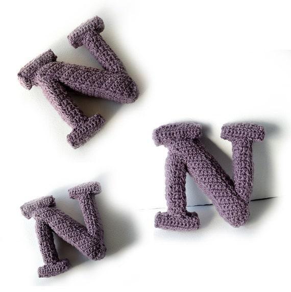 Letter N Crochet Pattern 3D Alphabet Crochet Pattern 3d