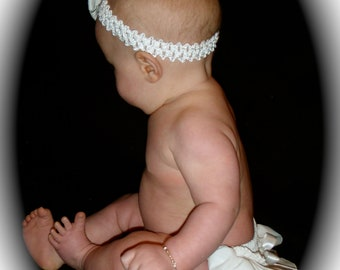 A Beautiful Parley Ray White Ruffled Diaper Cover/ Baby Bloomers/ Photo Prop