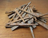 Salvaged 10 Antique Rusted Iron Square Head Nails 2 Inch