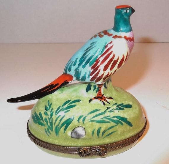Vintage Limoges France Peint Main Tiffany and Co Porcelain Trinket Box