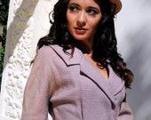 Pretty in Pink Vintage Crop Sleeve Wool Jacket