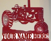 Personalized Key Holder 9 Hooks Organizer Hook Metal International Farmall John Deere McCormick or Oliver