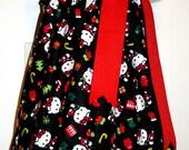 Hello Kitty Inspired Christmas dress Christmas girl's top READY TO SHIP