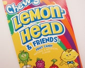 LEMON CANDY Journal Notebook LEMONHEAD Retro candy Spiral recycled shopping list memo paper pad