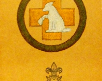 1928 Merit Badge Series 'First Aid to Animals' Booklet by the Boy Scouts of America.