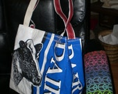 Tote lined made from recycled upcycled feedbags