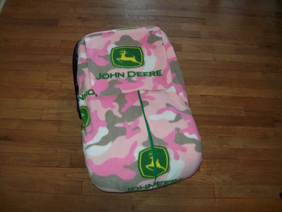 John Deere Car Seat Covers : Fleece infant car seat cover john deere pink by agrowingfamily