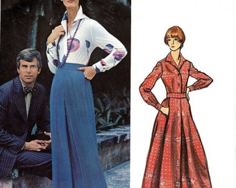 PATTERN Vogue 2874 Shirt and flared long skirt Size 16 Pucci Vogue Couturier Design