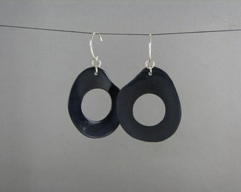 Elegant Blue Dangle Earrings ECO Tagua jewelry