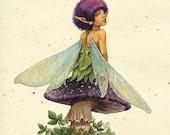 "Square Card Print ""Fairy"""