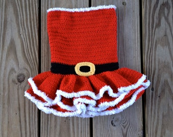 Instant Download - Party Dress Crochet Pattern - Newborn to 4T - Permission To Sell Finished Items - Photography Prop - Christmas Dress