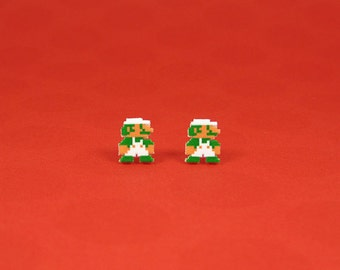 8-bit Luigi Earrings