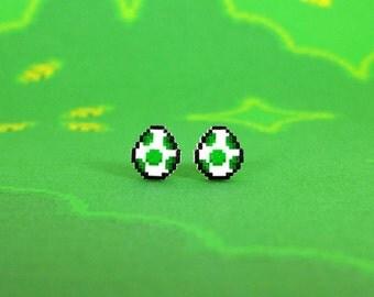 Super Mario World Yoshi Egg Earrings