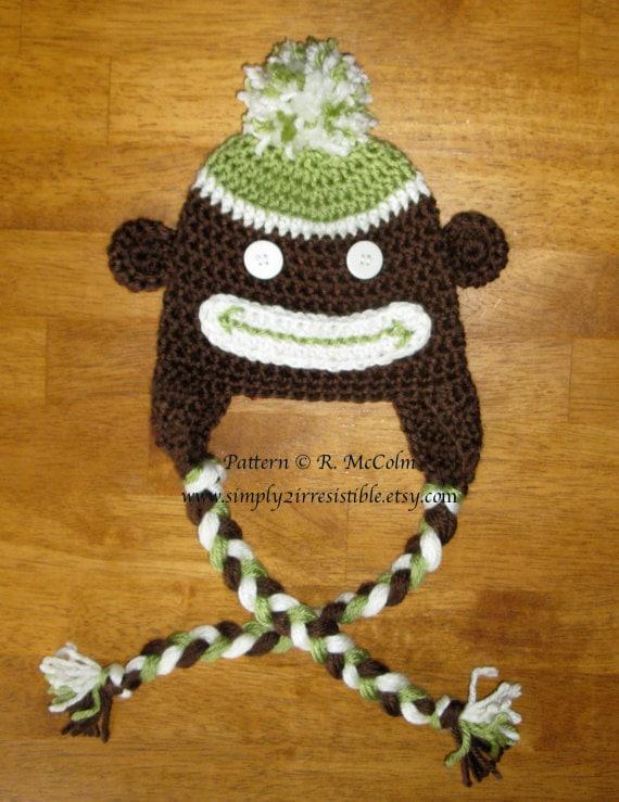 Monkey Beanie Hat Crochet Pattern : Items similar to Monkey Hat Pattern - Crochet Pattern 2 ...